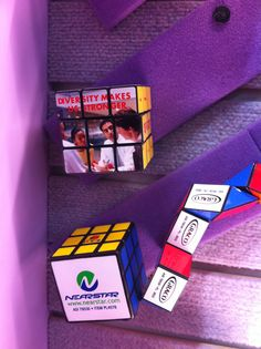 Close up of Rubkis cube and puzzle toys from Prime