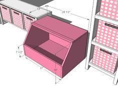 Open bin storage diy for kids rooms