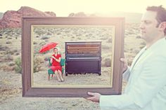Desert shoot, with props! | Desert Engagement Session in the Key of Awesome at Valley of Fire | Photo: Renaissance Studios Photography