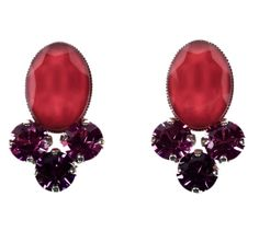 PHILIPPE FERRANDIS COLLECTION   Red Crystal Earrings