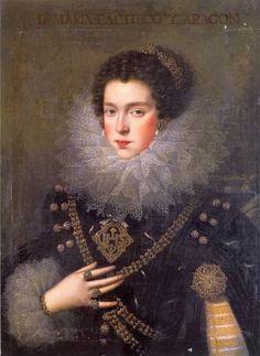 María Pacheco y Aragón, 1ª Condesa de Añover de Tormes / By Rodrigo de Villandrando.