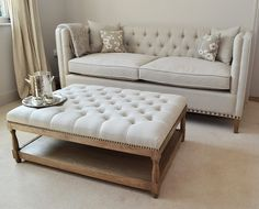 NEW Petit Royale Ottoman upholstered ottoman, upholstered coffee table from La Residence Interiors £420.00