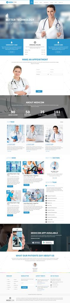 Medicom is Premium full Responsive Drupal Theme for every medical and health websites. Google Map. Bootstrap Framework.