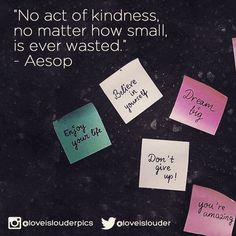 #loveislouder with random compliments and acts of kindness.