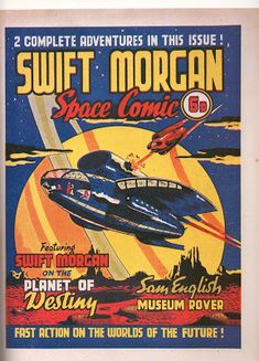 Eight Miles Higher: SWIFT MORGAN: FIRST COMIC-STRIP BRIT IN SPACE!