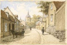 Konstnär: Isberg, Fredrik Material och teknik: Akvarell Underlag: Papper Mått i mm: 114x170
