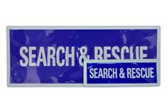 Reflective Search and Rescue Badges - Silver on blue, chest and back Essential First Aid Kit, Security Equipment, Search And Rescue, Tactical Gear, Hand Sanitizer, Badges, Coding, Tools, Silver