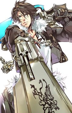 Squall and his gunblades