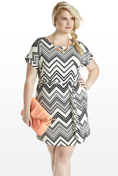 Dazzle in the Details Zig-Zag Dress