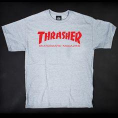 Thrasher T Skjorte Skate Mag Grey