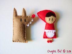 Little Red Riding Hood felt brooch | Overjita Be! Handmade Little Things