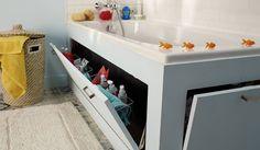 Tuto : Fabriquez un tablier de baignoire avec rangements intégrés © 18h39
