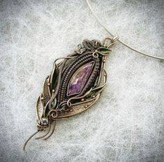 Hippie Bracelets, Vitreous Enamel, Copper Color, Rainbow Moonstone, Jewerly, Pendants, Silver, Handmade, Jewlery