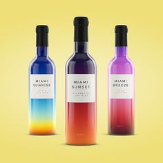 Moscow-based designer Vlad Likh drew inspiration from the ever-changing Miami sky-scape for his latest packaging design of Miami Wines.
