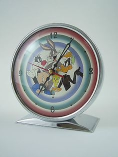 Warner #bros. looney tunes chrome #alarm #clock, 1995 vintage, working order, vgc,  View more on the LINK: 	http://www.zeppy.io/product/gb/2/131643172335/