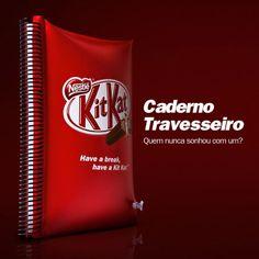 Kit Kat cria caderno que se transforma em travesseiro. #publicity #HaveaBreak #PillowBook