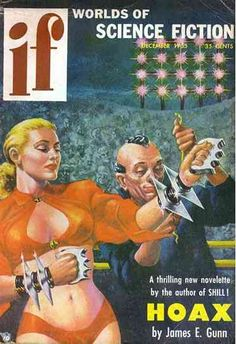 FRANK KELLY FREAS - art titled Heavyweight Champion of the World - Dec 1955 Worlds of If Science Fiction
