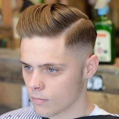 Classic Hairstyles For Men - Skin Fade with Side Part and Brush Back
