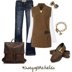 A fashion look from October 2012 featuring long sleeve shirts, rib tank top and ripped jeans. Browse and shop related looks. Fall Outfits, Cute Outfits, Fashion Outfits, Night Outfits, Love Fashion, Womens Fashion, Fashion Ideas, Cool Style, My Style
