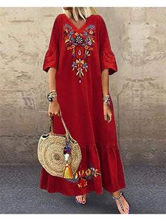 Maxi Dress With Sleeves, V Neck Dress, Floral Maxi Dress, Short Sleeve Dresses, Dress Red, Short Sleeves, Navy Dress, Gold Dress, Dress Lace