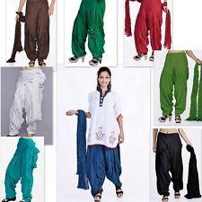 20 Colors Indian Patiala Salwar With Dupatta Set for Kurta Kameez Kurti Tunic