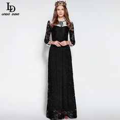 Women's Long Sleeve Noble Voile Mesh Flower Embroidered Long Dress Oh just take a look at this! http://www.storeglum.com/product/ld-linda-della-new-fashion-runway-maxi-dress-womens-high-quality-long-sleeve-noble-voile-mesh-flower-embroidered-long-dress #shop #beauty #Woman's fashion #Products