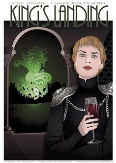 Poster Cersei LANNISTER - Game of Thrones affiche - affiche de film, impression…