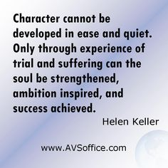Quote by Helen Keller, graphic by AVSoffice.com.