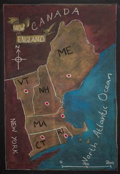 """Check out my set """"Most Interesting here! Visit my Waldorfschool/Steinerschool related pinboards here! 5th Grade Geography, Us Geography, Teaching Geography, England Map, New England, North America Geography, Fifth Grade, Local History, 5th Grades"""