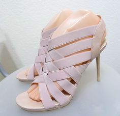 Womens Donald J Pliner strappy sandal 7.5M NEW $250 LIGHT PINK #DonaldJPliner #Strappy