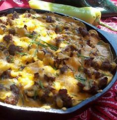 A delicious and hearty Mountain Man 1-skillet camping breakfast recipe