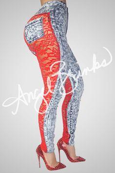 Sinister Jeans (Red Bottoms) | Shop Angel Brinks on Angel Brinks