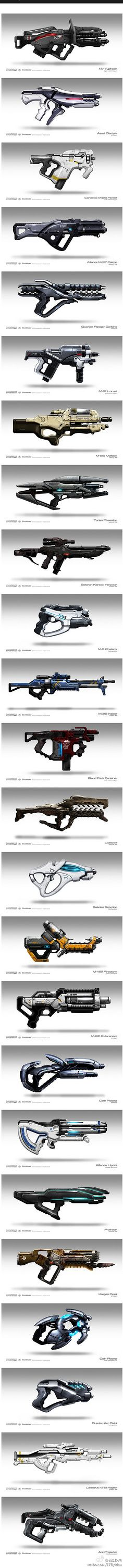 Some weapon pics from Mass Effect series.