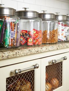 See through canisters for snack storage