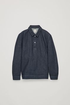 COS | Pull-over denim shirt Latest Clothes For Men, Men's Coats And Jackets, Denim Shirt, Timeless Fashion, Work Wear, Casual Shirts, Long Sleeve Shirts, Menswear, Man Shop