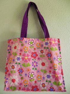 Reusable Shopping Bag Flower print grocery bag on Etsy, $10.00