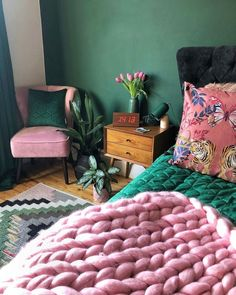 bohemian bedroom 495888608969610046 - An array of color and prints, varying textures, billowing fabrics and layers of worldly decor, boho style interior is the most fun to create from the ground up. Bedroom Green, Bedroom Colors, Home Bedroom, Bedroom Decor, Bedroom Ideas, Colourful Bedroom, Eclectic Bedrooms, Nautical Bedroom, Master Bedrooms