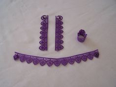 Parure purple - Earrings Ring Bracelet