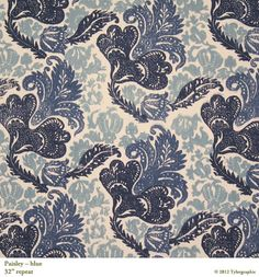 Paisley in Blue from Tylergraphic #textiles #fabric #blue