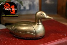 Vintage Brass Duck Lint Remover by JunkRedemption on Etsy