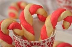 Candy Cane Cookies are a popular Christmas cookie. These red and white cane shaped cookies are tender sweet with a lovely buttery almond flavor. With Demo Video Christmas Goodies, Christmas Desserts, Christmas Treats, Holiday Treats, Christmas Fun, Holiday Recipes, Christmas Recipes, Holiday Fun, Holiday Drinks