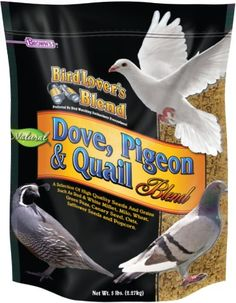 F.M. Brown's Bird Lover's Blend Dove Food for Pets, 5-Pound - We've developed Bird Lover's Blend for the experienced hobbyist as well as the novice. This special blend is designed to provide the highest quality seeds and grains for the proper nutrition of doves, pigeons and quails. The experience of six generations has helped the Brown's family to develop t...
