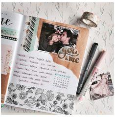 Couple Scrapbook, Scrapbook Cover, Scrapbook Journal, Travel Scrapbook, Scrapbook Boyfriend, Scrapbook Ideas For Couples, Friend Scrapbook, Bullet Journal Writing, Bullet Journal Ideas Pages