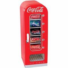 Coca-Cola Beverage Cooler at Lowe's. The Coca-Cola 10 Can Retro Vending Cooler dispenses refreshing beverages at the push of a button. This unique vending machine features the classic, retro Layout Design, Design Ideas, Coca Cola Vintage, Beverage Refrigerator, Compact Refrigerator, Beverage Center, Beverage Drink, Beverage Dispenser, Drink Beer
