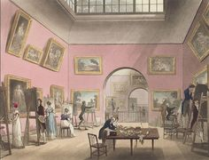 """""""What Jane Saw"""" is the title of a website and e-gallery which offers a historical reconstruction of an exhibit from 1813 at the Pall Mall in London. Jane Austen visited this exhibition on May 24, 1813. EA."""