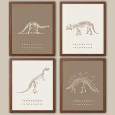 Paleontology Art for kids Boys Nursery Art Kids by iNKYSQUIDKIDS