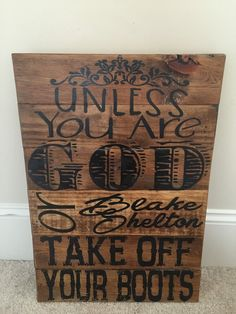 Take Off Your Boots Sign by TheRusticWarehouse on Etsy