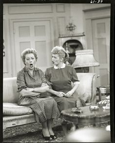 """Classic Ethel and Lucy. Lucy asking Ethel to go along with a crazy plan and Ethel going """"oh noooo."""""""
