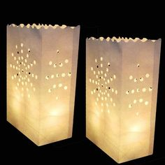 Pack of 50 - Plain Candle Luminary Bags Candle Bags