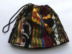 Upcycling - Col snood africain noir tissu wax par cewax - Foulards & Ec - Afrikrea